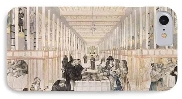 The Infirmary Of The Sisters Of Charity During A Visit Of Anne Of Austria  IPhone Case by Abraham Bosse