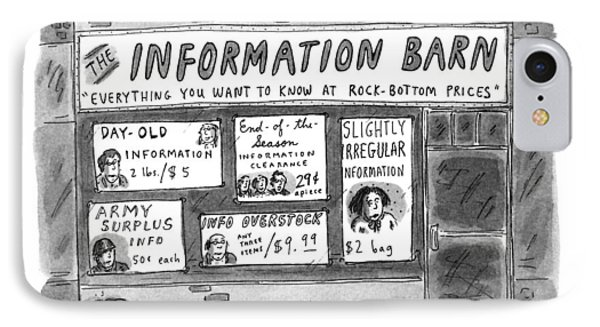 The Information Barn  Everything You Wanted IPhone Case by Roz Chast