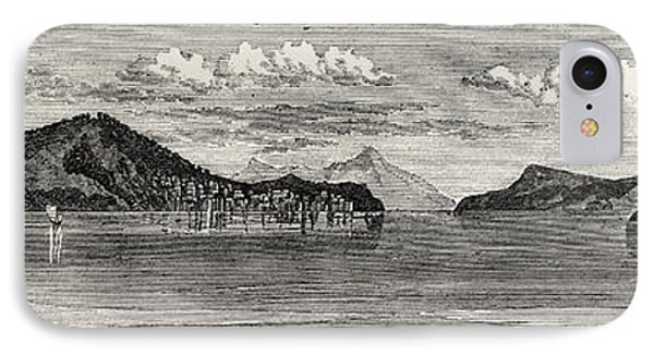 The Inland Sea Of Japan Island And Town Of Osima IPhone Case by Japanese School