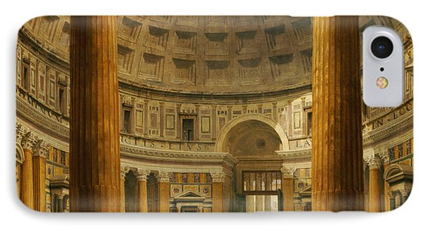 The Interior Of The Pantheon Phone Case by Giovanni Paolo Panini