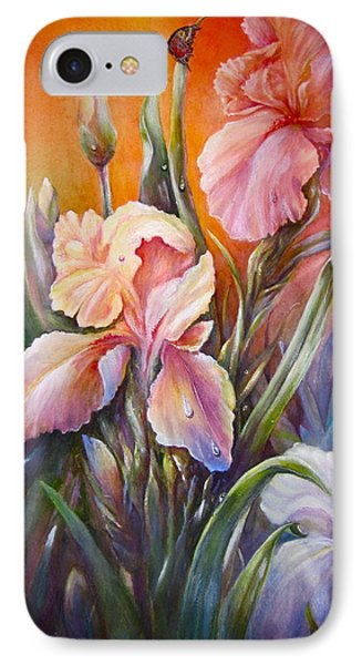 IPhone Case featuring the painting The Iris Of  Spring  by Patricia Schneider Mitchell
