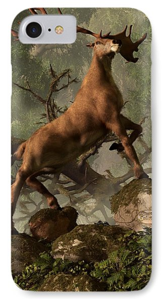 The Irish Elk IPhone Case by Daniel Eskridge