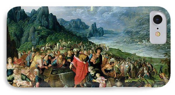 The Israelites On The Bank Of The Red Sea, 1621 Oil On Canvas IPhone Case by Frans II the Younger Francken