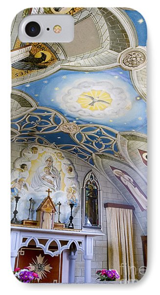 The Italian Chapel Mural Orkney IPhone Case by Tim Gainey