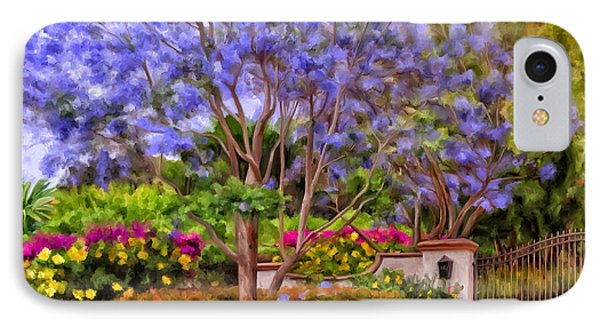 IPhone Case featuring the painting The Jacaranda by Michael Pickett
