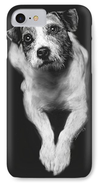 The Jack Russell Stare- Got Ball? IPhone Case by Rachel Hames