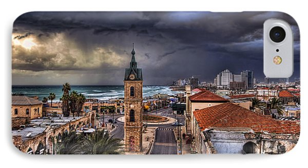 the Jaffa old clock tower Phone Case by Ronsho