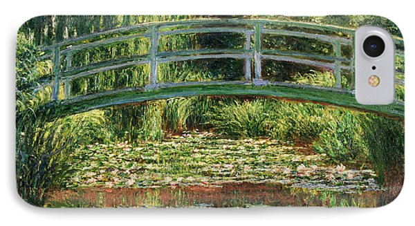 The Japanese Footbridge And The Water Lily Pool Giverny IPhone Case by Claude Monet