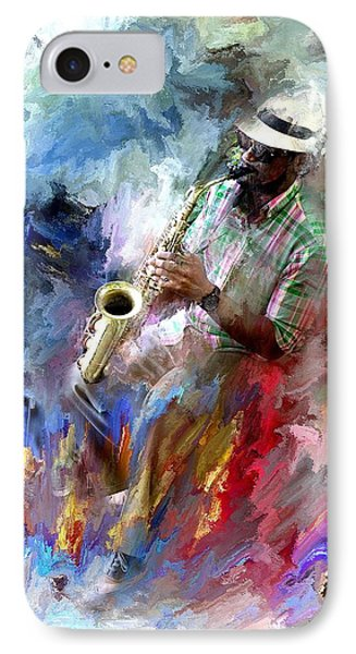 The Jazz Player IPhone Case by Evie Carrier