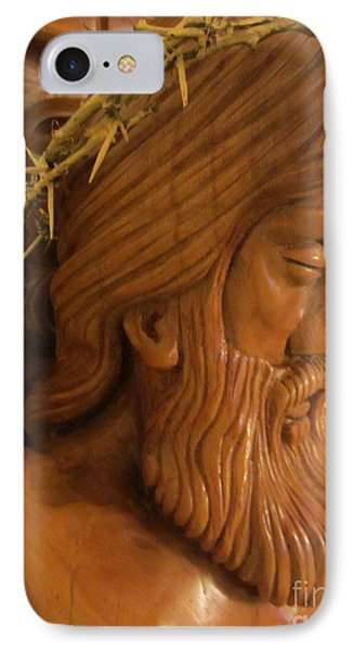 The Jesus Christ Sculpture Wood Work Wood Carving Poplar Wood Great For Church 2 Phone Case by Persian Art