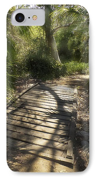 IPhone Case featuring the photograph The Journey Along The Path Comes With Light And Shadows by Lucinda Walter