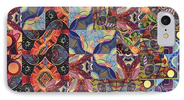 The Joy Of Design Mandala Series Puzzle 1 Arrangement 8 IPhone Case by Helena Tiainen