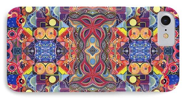 The Joy Of Design Mandala Series Puzzle 3 Arrangement 1 Phone Case by Helena Tiainen