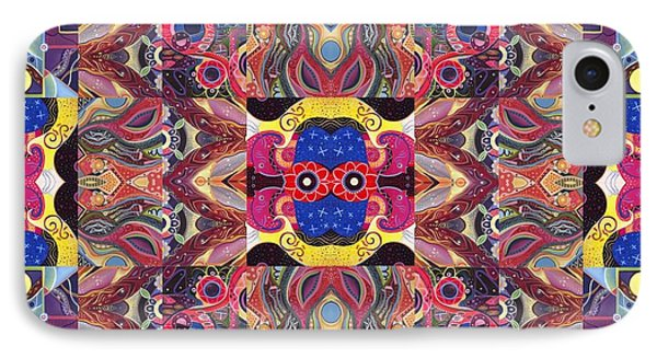 The Joy Of Design Mandala Series Puzzle 3 Arrangement 2 IPhone Case by Helena Tiainen