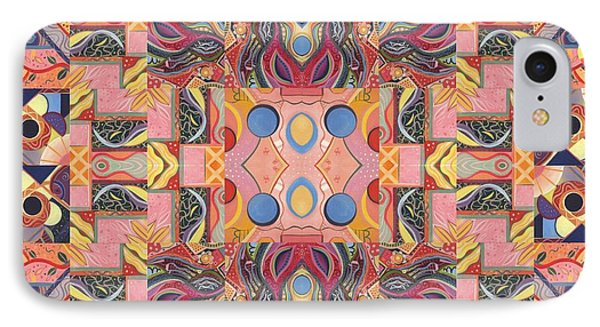 The Joy Of Design Mandala Series Puzzle 4 Arrangement 3 IPhone Case by Helena Tiainen