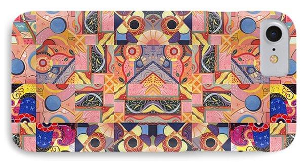 The Joy Of Design Mandala Series Puzzle 4 Arrangement 4 IPhone Case by Helena Tiainen
