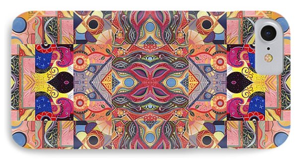 The Joy Of Design Mandala Series Puzzle 4 Arrangement 5 IPhone Case by Helena Tiainen