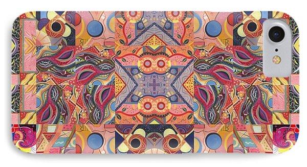 The Joy Of Design Mandala Series Puzzle 4 Arrangement 6 IPhone Case by Helena Tiainen