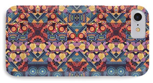 The Joy Of Design Mandala Series Puzzle 5-4 Arrangement IPhone Case