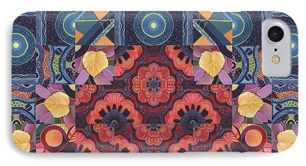 The Joy Of Design Mandala Series Puzzle 5 Arrangement 3 IPhone Case by Helena Tiainen