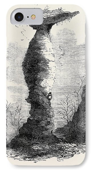 The Jug Rock In Southern Indiana 1869 IPhone Case by American School