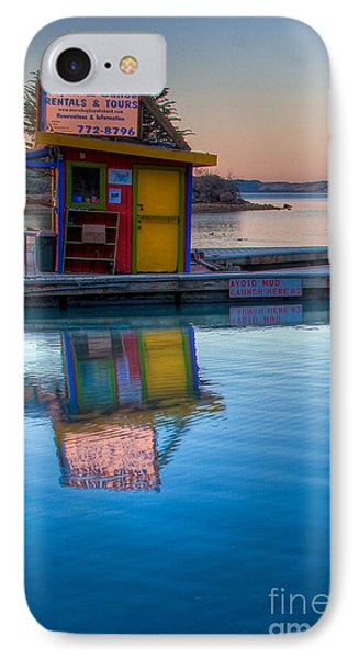 The Kayak Shack Morro Bay IPhone Case by Terry Garvin
