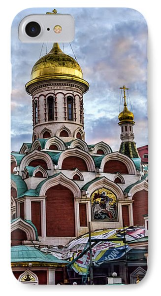 The Kazan Cathedral - Red Square - Moscow Russia IPhone Case by Jon Berghoff