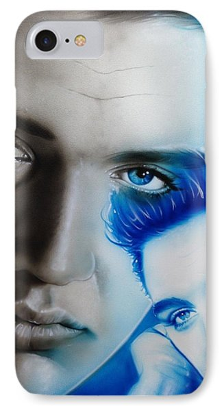 Elvis Presley - ' The King ' IPhone 7 Case by Christian Chapman Art