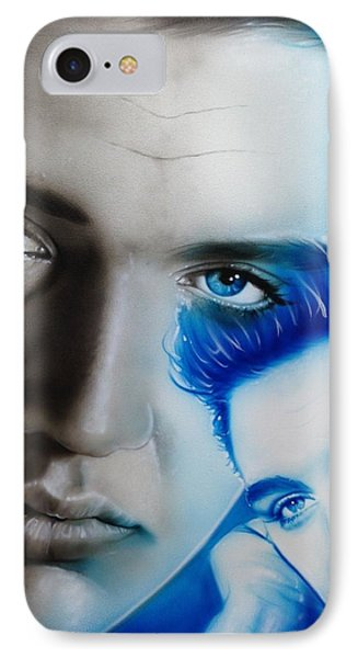 Elvis Presley - ' The King ' IPhone Case by Christian Chapman Art