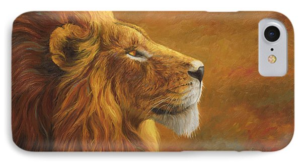 Lion iPhone 7 Case - The King by Lucie Bilodeau