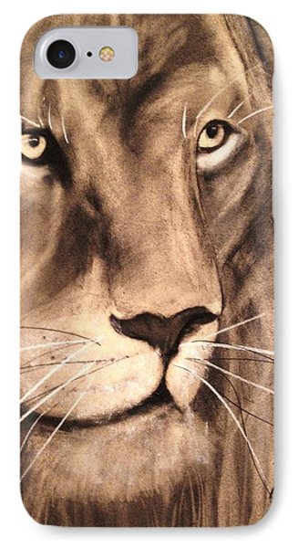The King IPhone Case by Renee Michelle Wenker