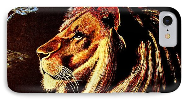 IPhone Case featuring the painting the King by Viktor Lazarev