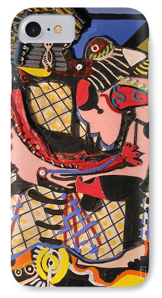 The Kiss Aka The Embrace After Picasso 1925 IPhone Case by Mack Galixtar