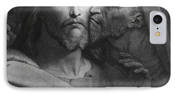 The Kiss Of Judas IPhone Case by Ary Scheffer
