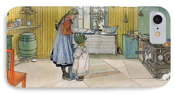 The Kitchen From A Home Series IPhone Case by Carl Larsson