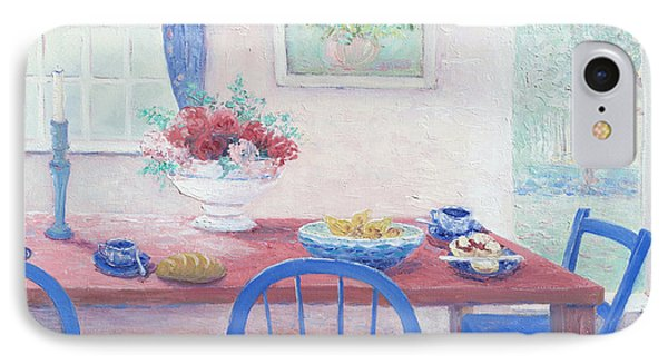 The Kitchen Table Laid For Lunch IPhone Case by Jan Matson