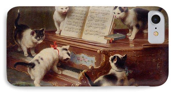 The Kittens Recital Phone Case by Carl Reichert
