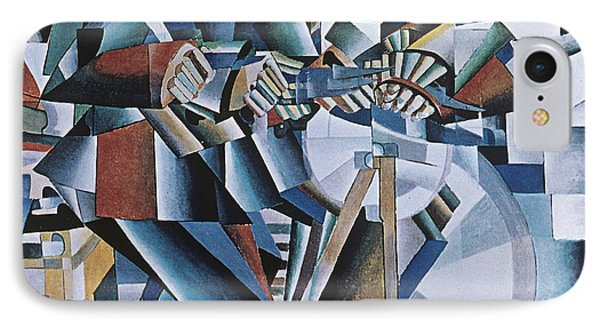 The Knife Grinder Phone Case by Kazimir  Malevich