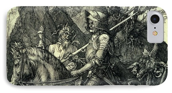 The Knight, Death And The Devil IPhone Case by Albrecht Durer or Duerer