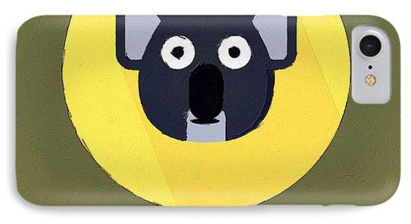 The Koala Cute Portrait IPhone Case by Florian Rodarte