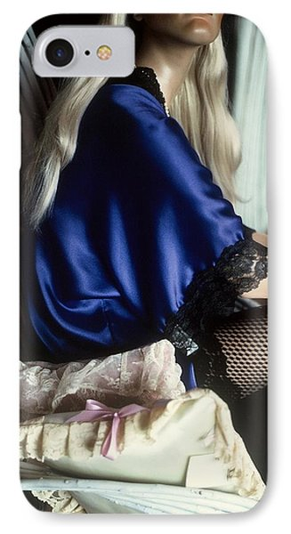 The Lady In Blue IPhone Case by Peggy Stokes