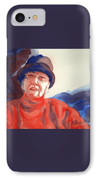 The Lady In Red Phone Case by Kathy Braud