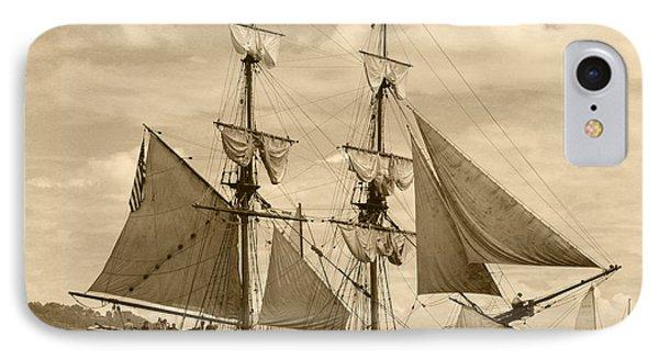 The Lady Washington Ship IPhone Case by Kym Backland