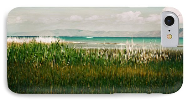The Lake - Digital Oil IPhone Case by Mary Machare