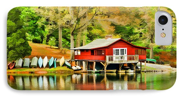 The Lake House IPhone Case by Darren Fisher