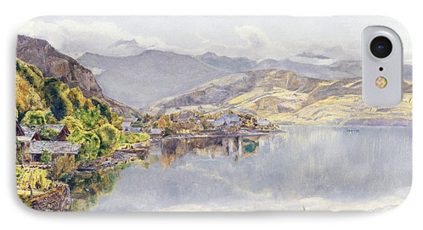 The Lake Of Lucerne, Mount Pilatus IPhone Case by John William Inchbold