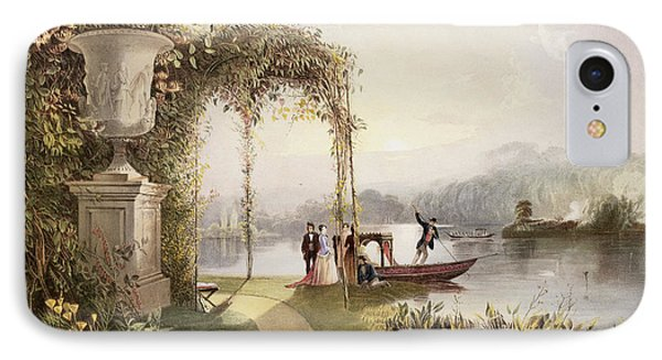 The Lake  Trentham Hall Gardens IPhone Case by E Adveno Brooke