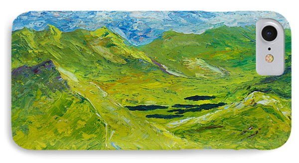 IPhone Case featuring the painting The Lakes Of Killarney  Original Sold by Conor Murphy