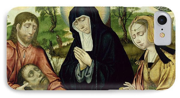 The Lamentation Of The Dead Christ, C.1520 Oil On Panel See 150818 And 150820 IPhone Case by Hamburg Master
