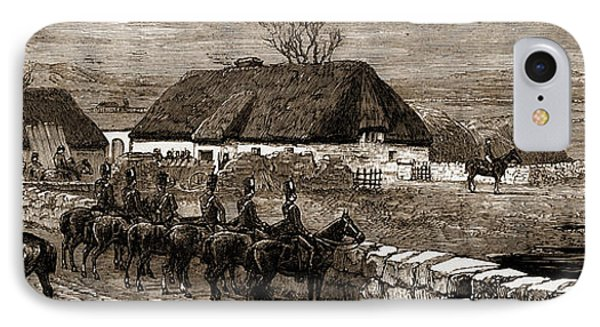 The Land Agitation In Ireland Erecting A Police Hut At New IPhone Case by Litz Collection